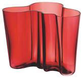 "Iittala 9"" Aalto Vase - Cranberry"