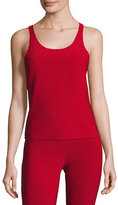Norma Kamali Racer Active Combo Top, Red