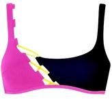 Agent Provocateur Jojo Black & Pink Bikini Top