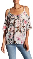 Plenty by Tracy Reese Floral Cold-Shoulder Peasant Blouse