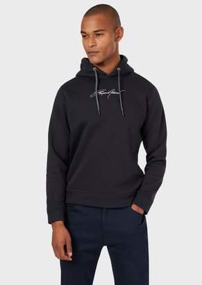 Emporio Armani Hooded Sweatshirt With Embroidered Logo