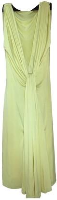 Ungaro Yellow Silk Dress for Women Vintage