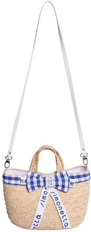 Simonetta Straw Effect Tote Bag