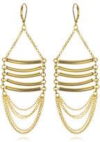 Cleopatra Gold Bar Earrings