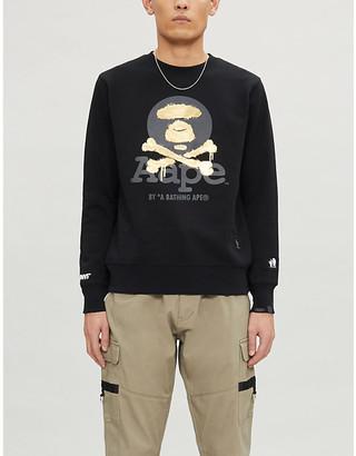 Crossbones-print cotton-jersey sweatshirt
