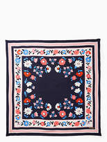Kate Spade Daisy silk square scarf