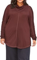 XCVI Madelina Cowl Neck Long Sleeve Tunic Top (Plus Size)