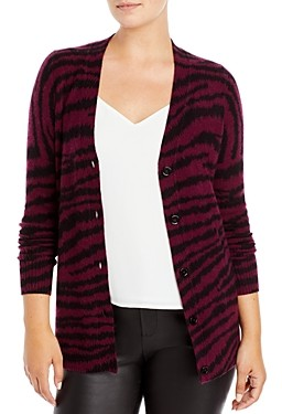 C by Bloomingdale's Zebra Print Cashmere Cardigan - 100% Exclusive