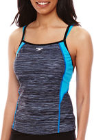 Speedo Textured Double-Strap Tankini Swim Top