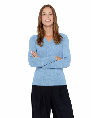 State Cashmere Womens Jumper 100% Pure Cashmere V-Neck Sweater Long Sleeve Pullover (Medium