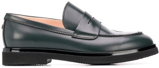 AGL Contrasting Sole Loafers