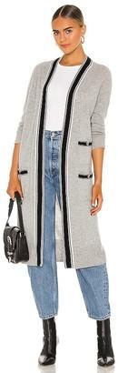 Autumn Cashmere Banded Stripe Cardigan
