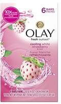 Olay Fresh Outlast Cooling Beauty Bar, Cooling White Strawberry/Mint, 23.9 Ounce, Packaging May Vary
