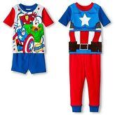 The Avengers Marvel Captain America Toddler Boys' 4-Piece Pajama Set Blue
