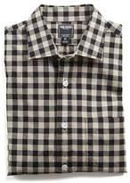 Todd Snyder Spread Collar Black Check Shirt