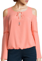 Bisou Bisou Cold Shoulder Flutter Top