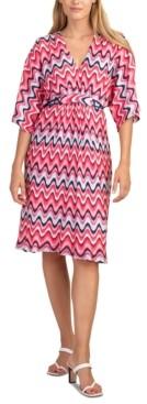 Trina Turk Printed Dolman-Sleeve Dress