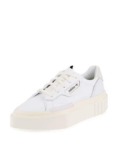 adidas Hypersleek Leather Platform Sneakers