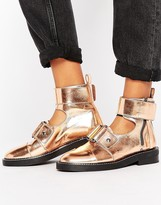 Asos AXLE Leather Cut Out Ankle Boots