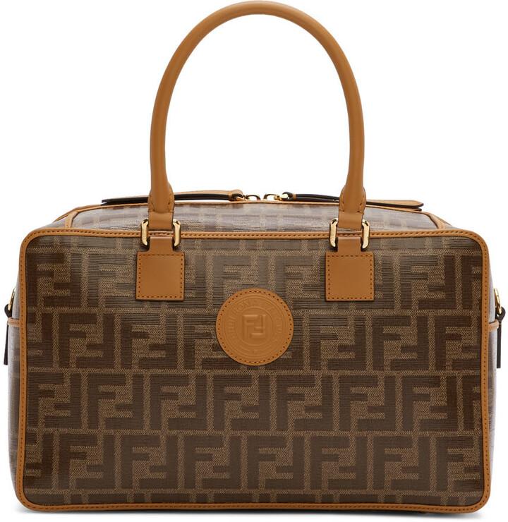 Thumbnail for your product : Fendi Brown Small 'Forever Fendi' Boston Bag