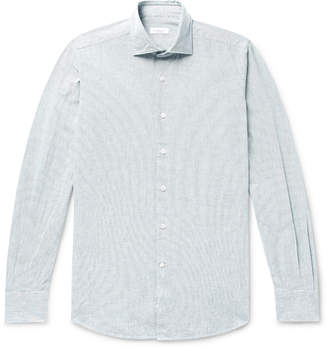 Incotex Slim-Fit Pintriped Cotton Oxford Shirt