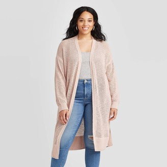 Universal Thread Women's Plus Size Long Sleeve Open Stitch Cardigan - Universal ThreadTM