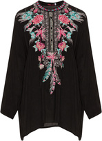 Johnny Was Plus Size Embroidered blouse