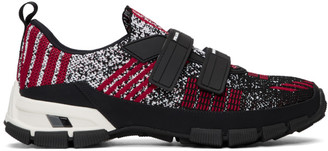 Prada Black and Red Crossection Sneakers