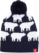 Perfect Moment Navy Bear Bobble Hat