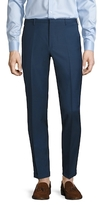 Prada Wool Solid Flat Front Trousers
