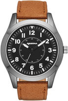 Arizona Mens Brown And Black Strap Watch