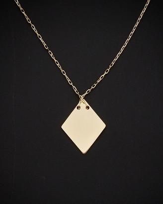 Italian Gold 14K Diamond Shape Adjustable Length Choker Necklace