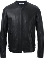 Hl Heddie Lovu thin collar leather jacket