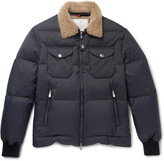 Brunello Cucinelli - Shearling-trimmed Quilted Shell Jacket