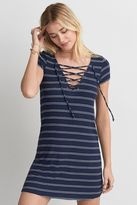 American Eagle Outfitters AE Lace-Up T-Shirt Dress