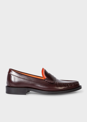Paul Smith Women's Bordeaux Leather 'Lewin' Loafers