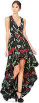 Alice + Olivia Beckie High Low Flower Gown