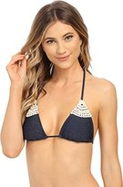 L-Space Women's Lucy Crochet Triangle Bikini Top