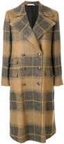 Tonello checked double breasted coat