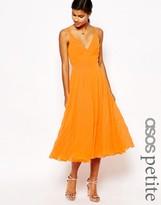 Asos Pleat Midi Dress