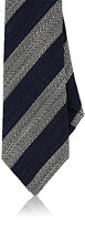 Isaia MEN'S STRIPED COTTON-LINEN NECKTIE