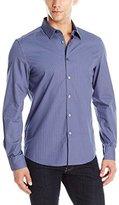 Kenneth Cole Reaction Men's Long Sleeve Chevron Check Shirt