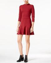 Armani Exchange Mock-Neck Drop-Waist Dress