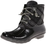 Sperry Women's Saltwater Prints Wool Plaid Rain Boot