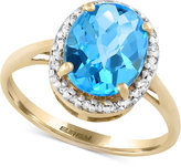 Effy Final Call by Blue Topaz (3-1/5 ct. t.w.) & Diamond (1/10 ct. t.w.) Ring in 14k Gold