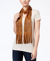 INC International Concepts Perforated Faux Suede Skinny Scarf, Only at Macy's