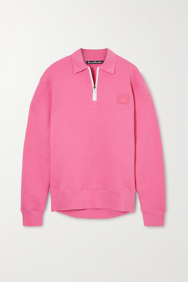 Acne Studios Appliqued Cotton-jersey Sweatshirt - Pink
