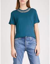 The Kooples Embellished jersey T-shirt
