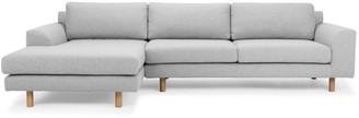 Calibre Furniture Masters Modular Sofa Light Grey Left Chaise