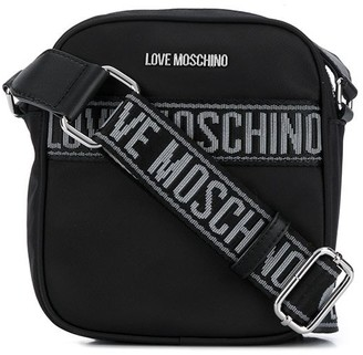 Love Moschino Logo Jacquard Messenger Bag